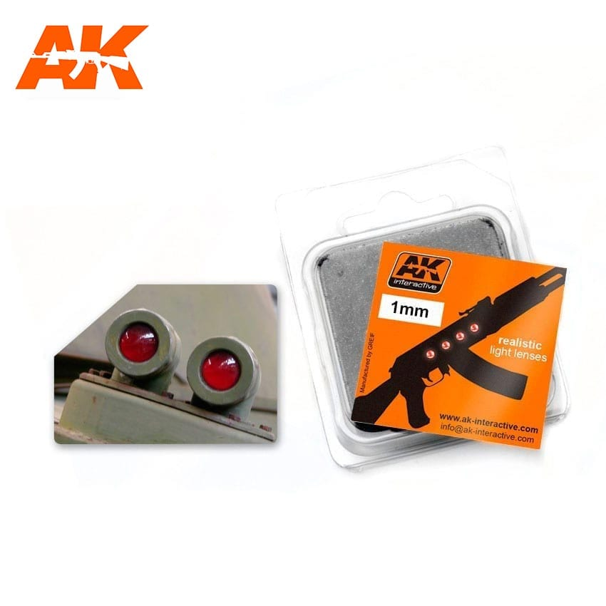 Headlight Lenses 1mm Red (AK Interactive)