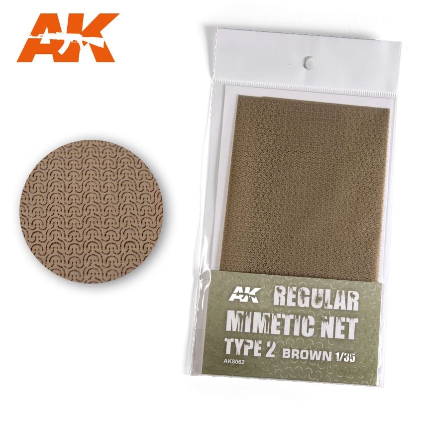 CAMOUFLAGE NET BROWN TYPE 2 (AK Interactive) AK8062