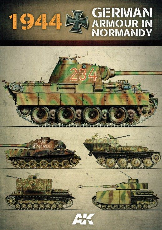 1944 - GERMAN ARMOUR IN NORMANDY (AK Interactive) Book
