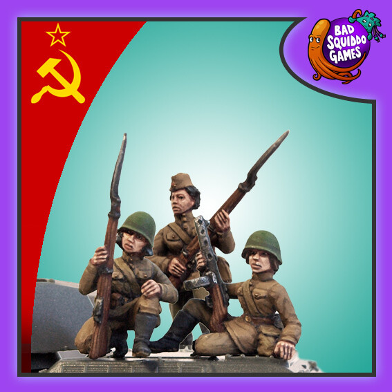 Female Soviet Tank Riders (3) - Bad Squiddo Games