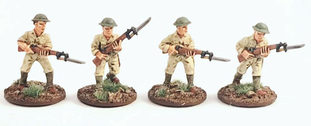 Philippines 1941 US Army Advancing (4) 28mm Scale (Company B)