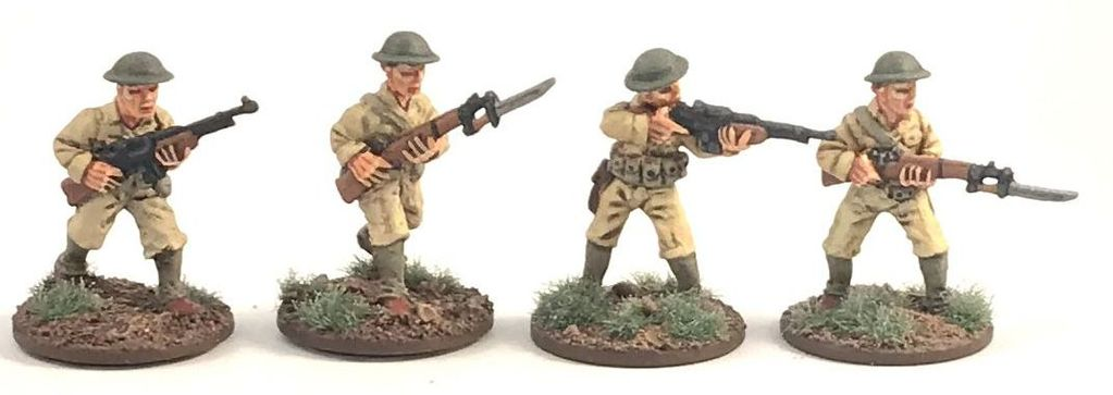 Philippines 1941 US Army BAR Teams (4 figs) 28mm Scale (Company B)