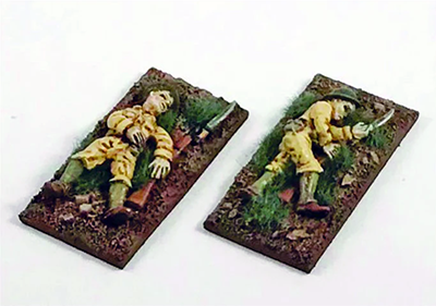 Philippines 1941 US Army Casualties (2) 28mm Scale (Company B)