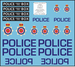 Pop Culture-Decals UK Policebox/Tardis (Company B)