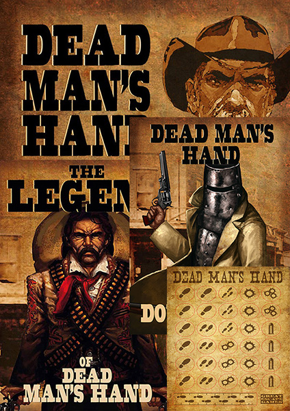 The Dead Man's Hand Trilogy: Three DMH books, plus markers
