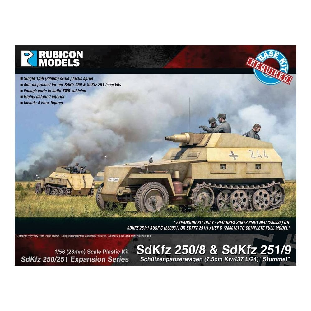 SdKfz 250/251 Expansion Set - SdKfz 250/8 & 251/9 (Rubicon Models)