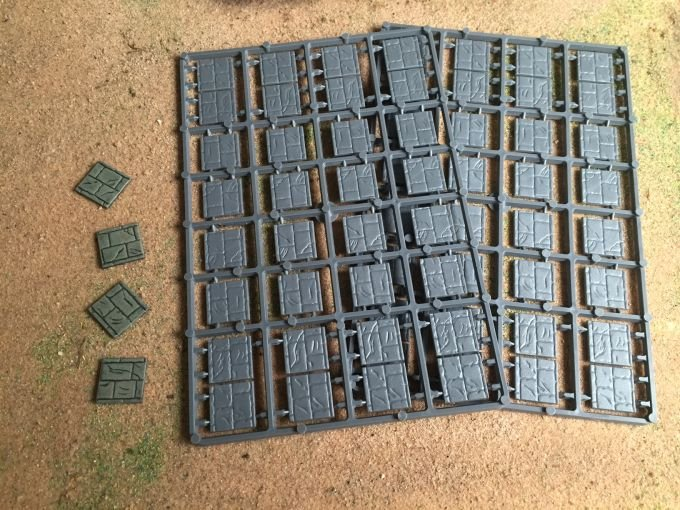 20mm Square Paved Effect Plastic Bases (Renedra)