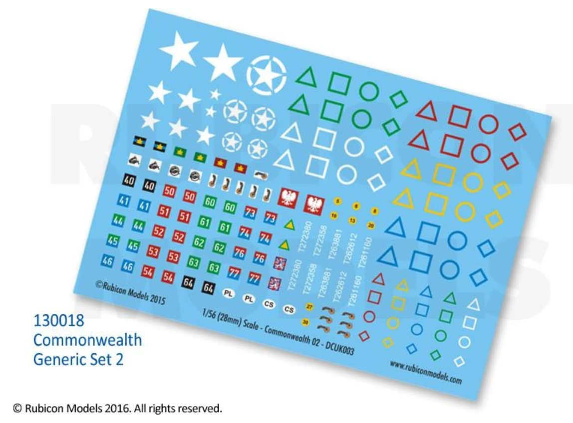 Commonwealth Generic Set 2 Decal Sheet (Rubicon)