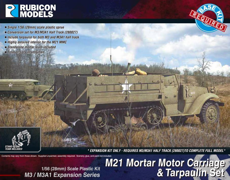 M3/M3A1 Expansion Kit - M21 MMC & Tarpaulin Set (Rubicon Models)