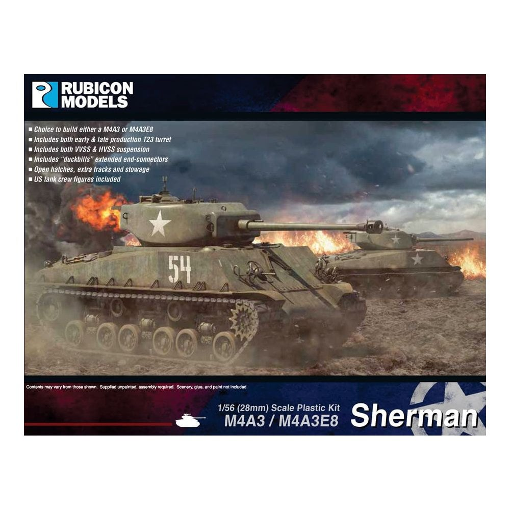Sherman M4A3/M4A3E8 Plastic Kit (Rubicon Models)