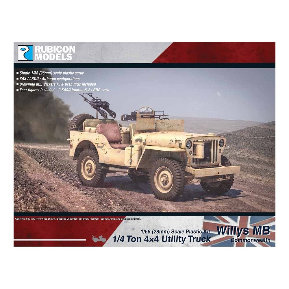 Willys MB 1/4 ton 4x4 Truck - Commonwealth (Rubicon Models)
