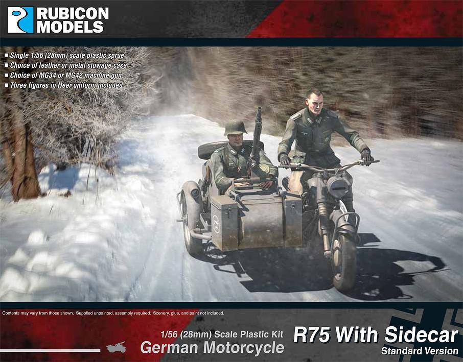 German Motorcycle R75 with Sidecar - ETO Plastic Kit (Rubicon Models)