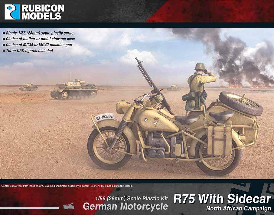German Motorcycle R75 with Sidecar - DAK (Rubicon Models)