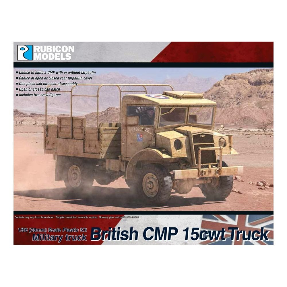 British CMP 15cwt Truck Plastic Kit (Rubicon Models)