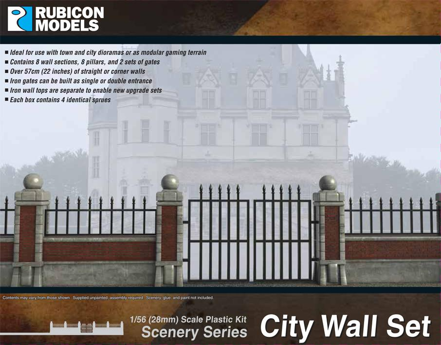 City (Brick) Wall Set (Rubicon Models)