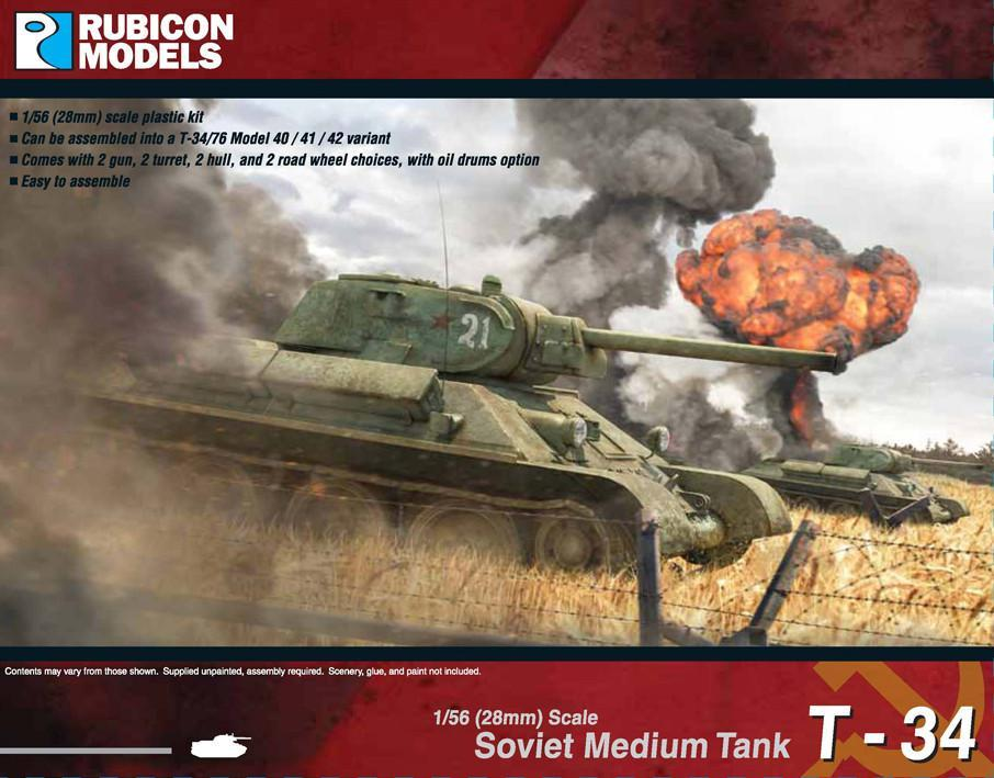 T-34/76 Early or Mid War Plastic Kit (Rubicon Models)