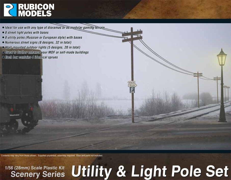 Utility & Light Pole Set (Rubicon Models)