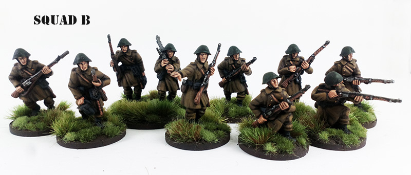 Pledge Sekondløjtnant - Danish Infantry Platoon (Great Escape Games)