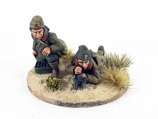 Greek Mountain Infantry/Evzones 45mm Mortar Team (Great Escape Games)