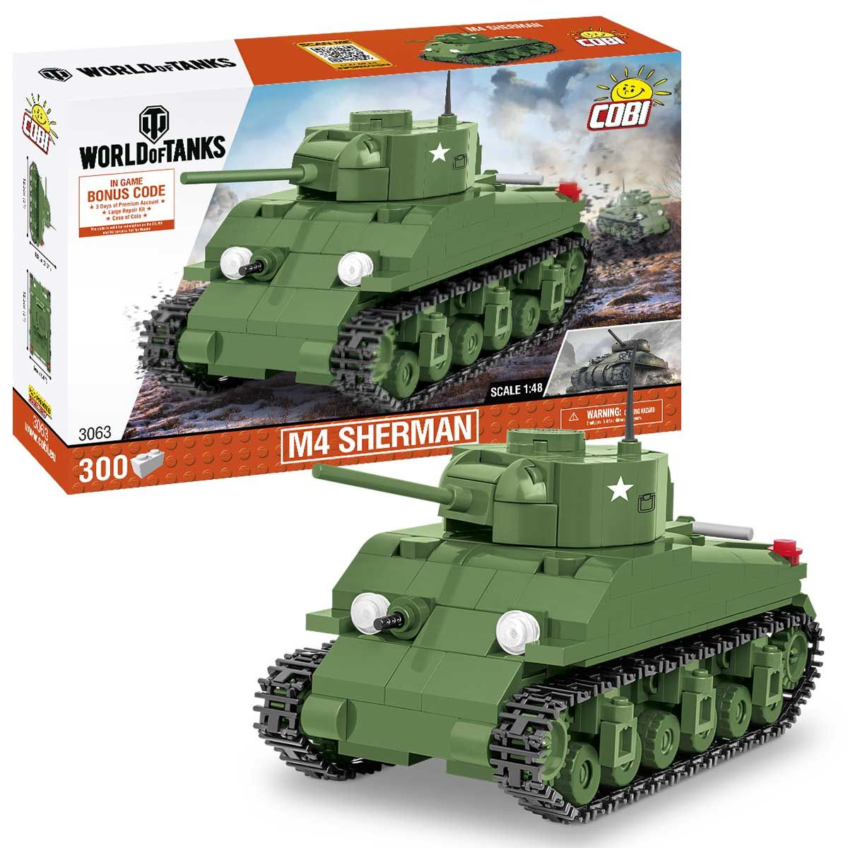 M4 Sherman (3063) Cobi 'World of Tanks' 1:48 scale