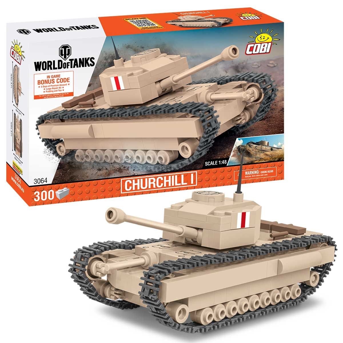 Churchill I (3064) Cobi 'World of Tanks' 1:48 scale