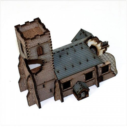 15mm Damaged Parish Church (4Ground)