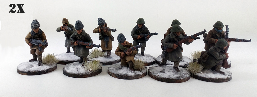 Romanian Army Deal - Winter Uniform (Great Escape Games) ROM102, 103x2, 104x2, 105/106/107/110