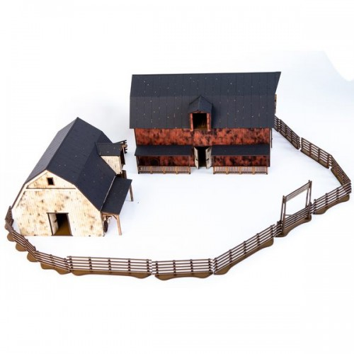 Dead Man's Hand Pre-painted Barn and Stables Set