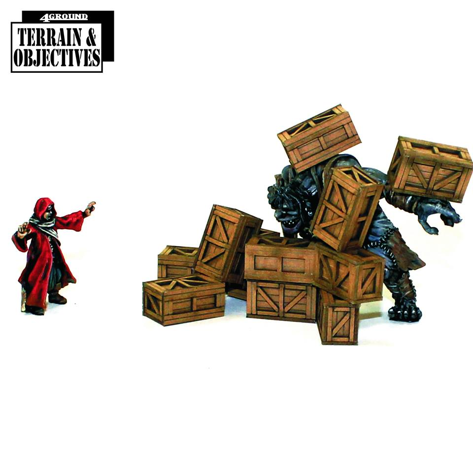 28mm Pre-painted Supply Crates (4Ground)