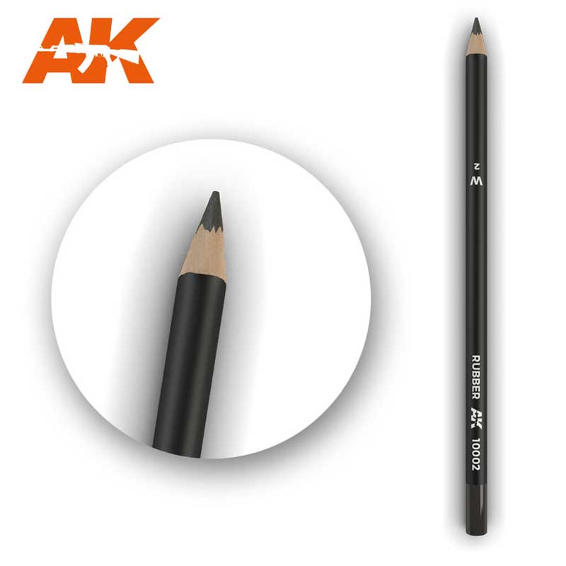 Watercolour Weathering Pencil: Rubber (AK Interactive) AK10002