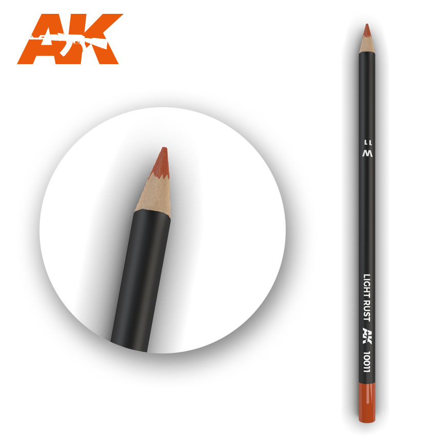 Watercolour Weathering Pencil: Light Rust (AK Interactive) AK10011