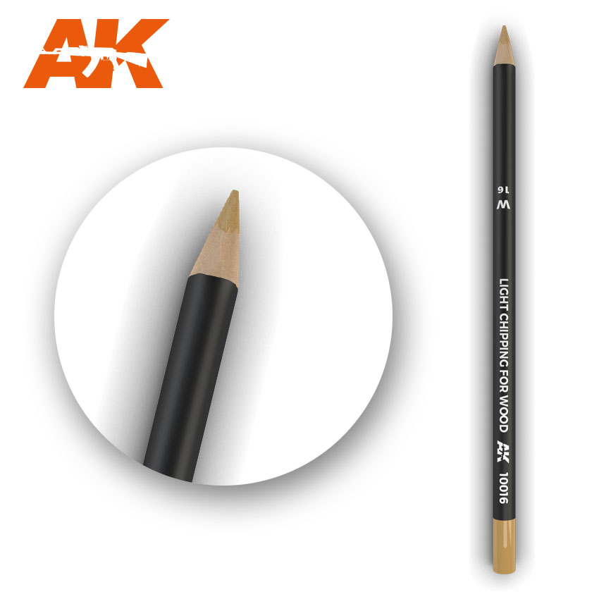 Watercolour Weathering Pencil: Light Chipping for Wood (AK Interactive) AK10016