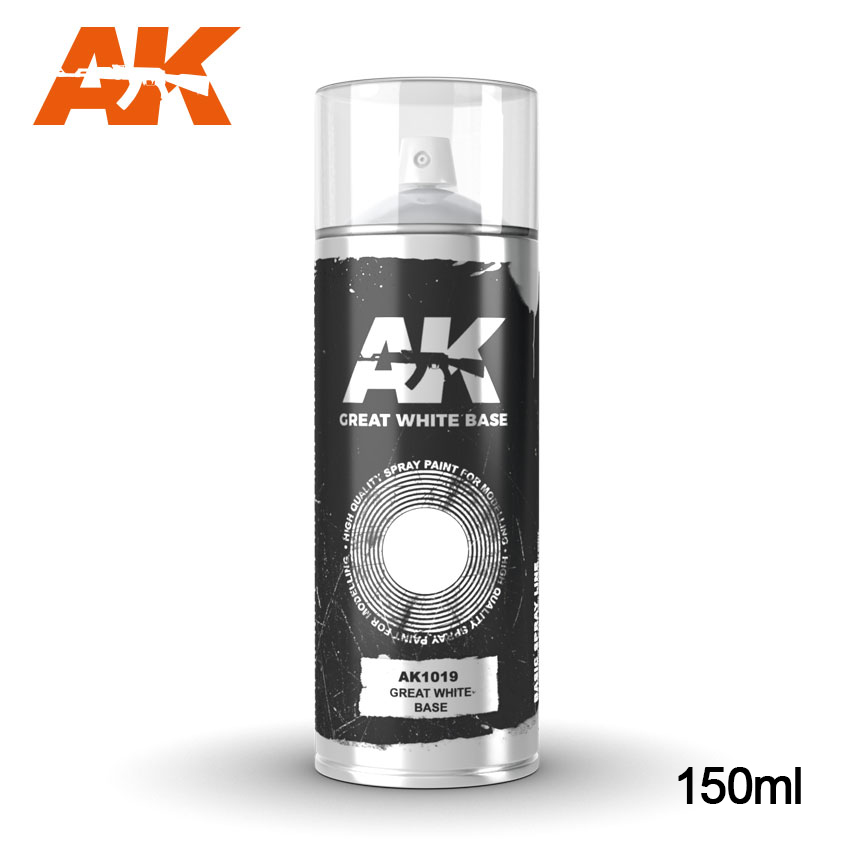 AK Interactive - Great White Base Spray (150ml)