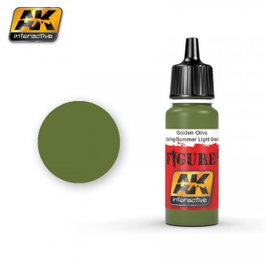 AK3063 Golden Olive/Waffen SS Spring or Summer Light Green Spots (AK Interactive)