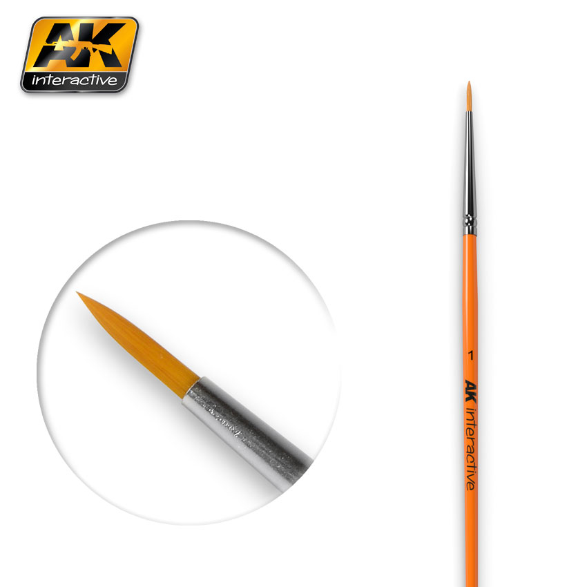 ROUND BRUSH SIZE 1 SYNTHETIC (AK Interactive)