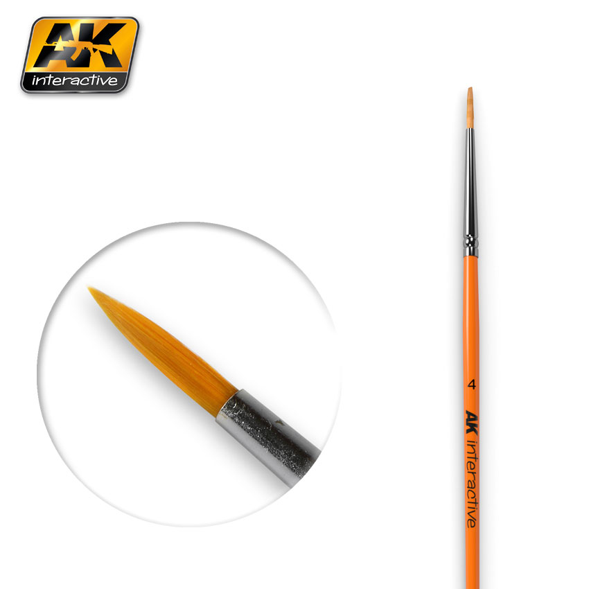 ROUND BRUSH SIZE 4 SYNTHETIC (AK Interactive)