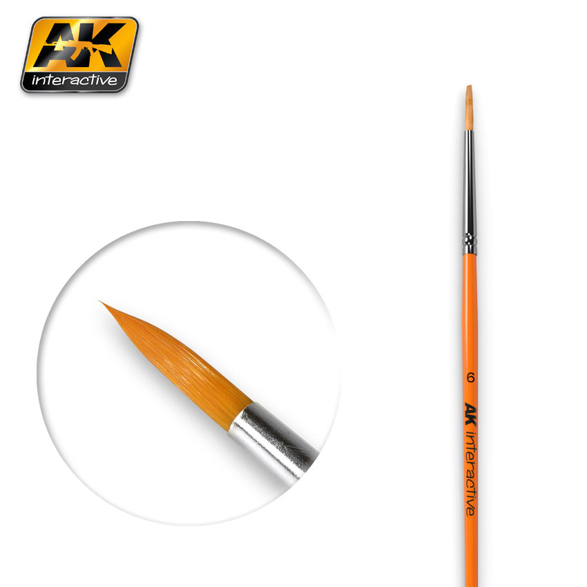 ROUND BRUSH SIZE 6 SYNTHETIC (AK Interactive)