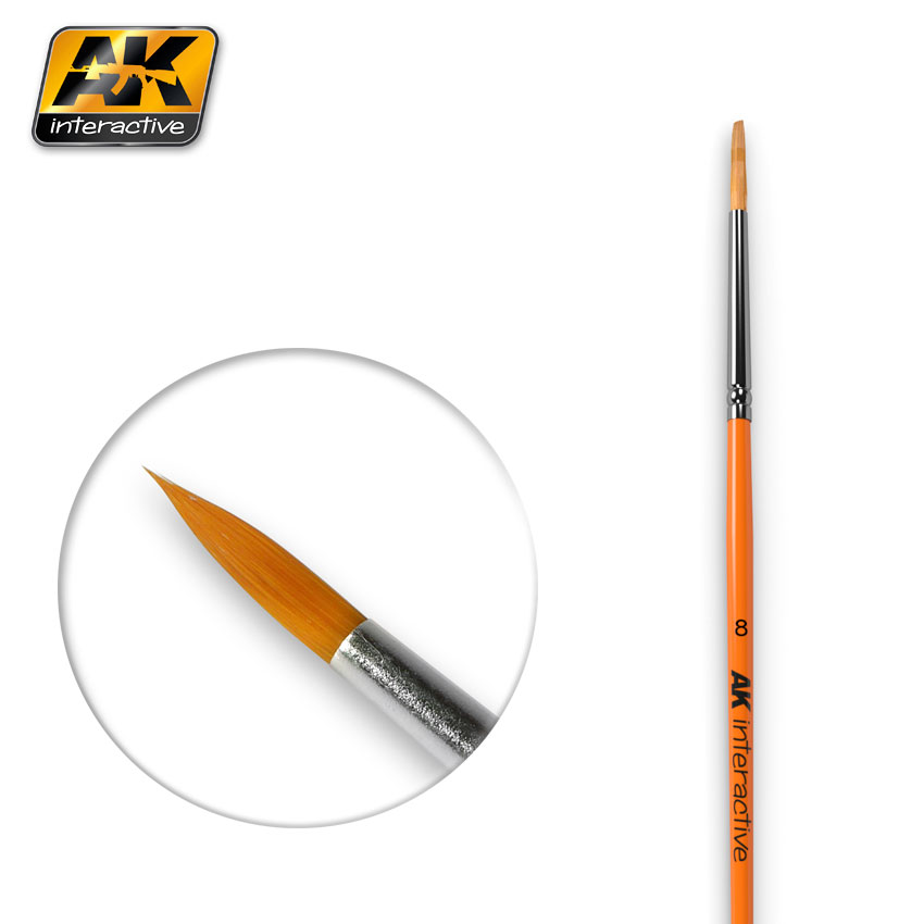 ROUND BRUSH SIZE 8 SYNTHETIC (AK Interactive)