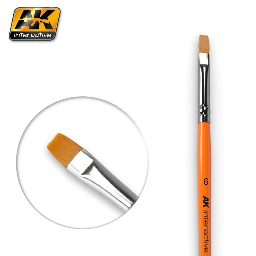 FLAT BRUSH SIZE 6 SYNTHETIC (AK Interactive)