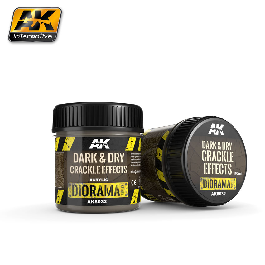 Dark and Dry Crackle Effects 100ml (AK Interactive) AK8032