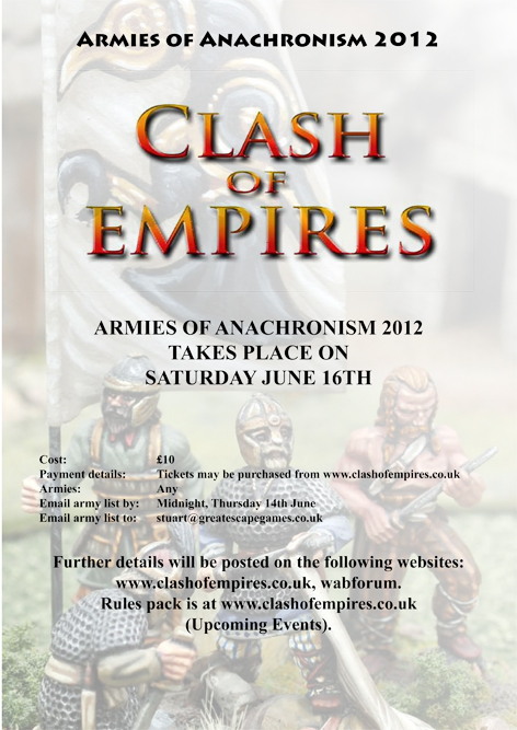 Ticket - Armies of Anachronism CoE Tournament 2012 June 16th