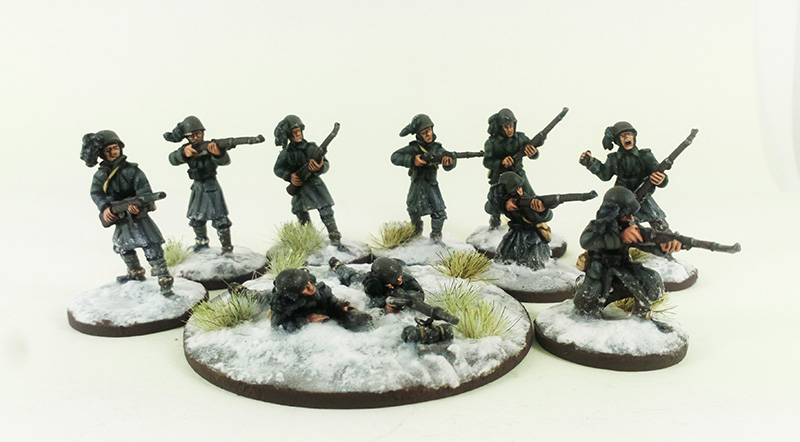 Italian Bersaglieri Squad A - Winter Uniform (Great Escape Games)