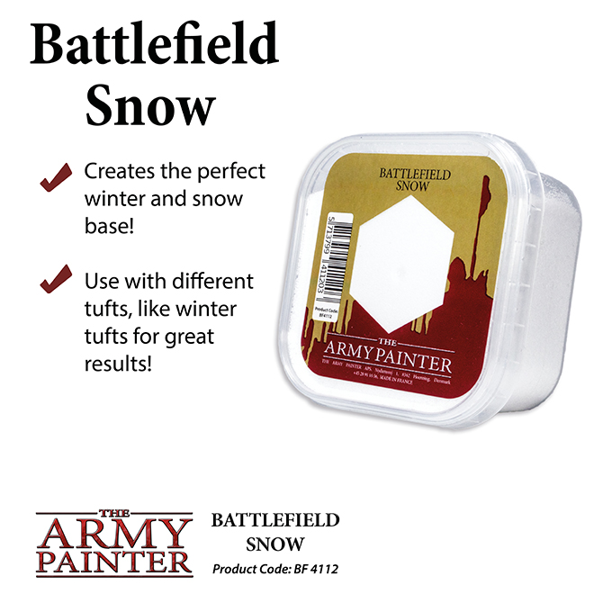 Basing: Snow Battlefield 2019 (Army Painter)