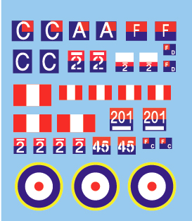 British Bishop SPG Decals (Company B)