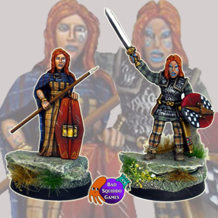Boudicca (Set of two) Bad Squiddo