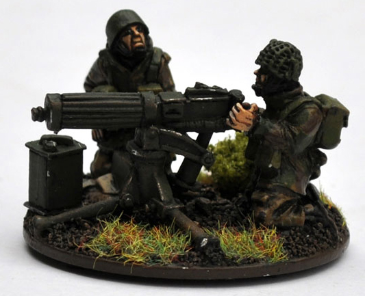British Airborne HMG Team