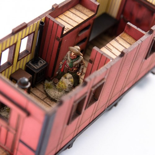 Dead Man's Hand 19th c. American Caboose (Red) 4Ground
