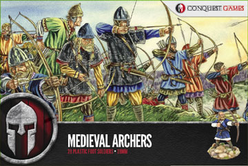 Medieval Archers Plastic Box Set (Conquest)