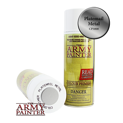 The Army Painter: Platemail Colour Primer Spray (400ml)