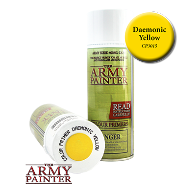 The Army Painter: Daemonic Yellow Colour Primer Spray (400ml)